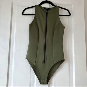 Forever 21 Tops - Army Green Bodysuit